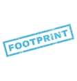 Footprint Rubber Stamp vector image