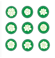 Jasmine banner in a green cirle vector image