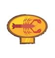 lobster sealife exotic food golden emblem vector image