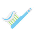 toothbrush icon flat style vector image