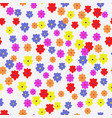 white floral pattern vector image