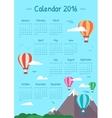 calendar for 2016 vector image
