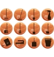 cleaning icons on buttons vector image vector image