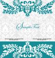 blue swirly invitation card vector image