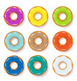 donut begel with cream cookiescookie cake set vector image vector image
