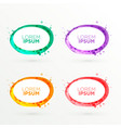 Abstract oval banners set in different colors vector image