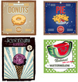 vintage food poster set vector image
