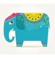 India - background with patterned elephant vector image vector image