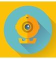 Flat Webcam Icon - Simple vector image