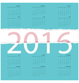 Happy New Year 2016Greeting card design vector image