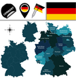 Germany map with named divisions vector image vector image
