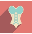 Flat icon with long shadow Woman corset vector image