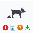 Feces sign icon Clean up after pets symbol vector image