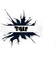 black friday big sale black ink splach vector image