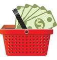 Business signs in shop basket vector image