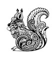 decorative squirrel vector image