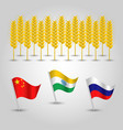 infographics set of top producers of wheat vector image