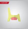 isolated child potty flat icon toilet vector image