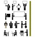Job professions icons vector image