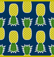 pineapple seamless tropical fruit texture vector image