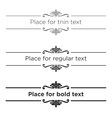 Retro text dividers set Vintage border elements vector image