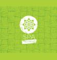 spa retreat organic eco background nature vector image
