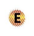 technology letter e vector image