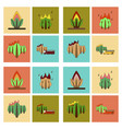 assembly flat icons natural disasters vector image