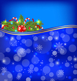 Christmas glowing background holiday decoration vector image