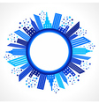 Abstract blue building design vector image