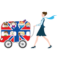 children in the London bus vector image vector image