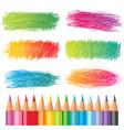 coloured pencils vector image