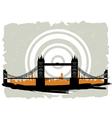 bridge grunge vector image
