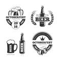 Vintage beer brewery emblems labels vector image vector image