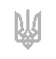 black emblem of ukraine from triangles vector image