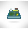 Cashier counter in modern flat design Supermarket vector image