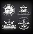 Restaurant menu set of seafood template design vector image