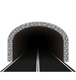 road tunnel 01 vector image