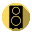 speaker sign flat black icon vector image