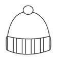 Thin line winter hat icon vector image