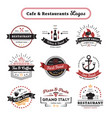 cafe and restaurant logos vintage design vector image