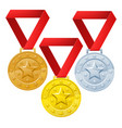 winners medals vector image