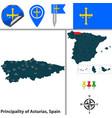 principality of asturias spain vector image