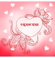 Lace heart with the inscription I love you vector image