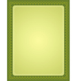 green certificate background vector image