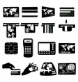 ATM money icons set vector image