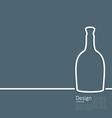 Web template logo of bottle wine in minimal flat vector image vector image