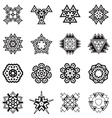 Abstract Geometric Elements Pattern Ethnic Aztec vector image