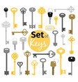 antique and modern keys vector image