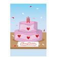 birthday-card vector image